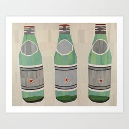 green glass bottles Art Print