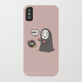 No-Face in Love of SootBall iPhone Case