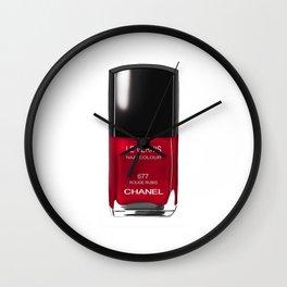 Nail Polish Rouge Rubis Wall Clock