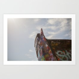 Cadillac Fin in Front of the Sky Art Print