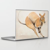 kangaroo Laptop & iPad Skins featuring Kangaroo by 1k Blooms Studios