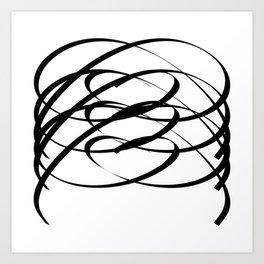 Family - Minimalism Drawing Black White Art Print