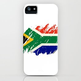 South Africa Flag - Vintage Look iPhone Case