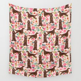 Irish Setter dog breed floral pattern gifts for dog lovers irish setters Wall Tapestry