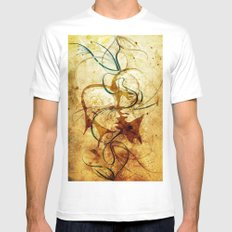 Parabola White Mens Fitted Tee MEDIUM