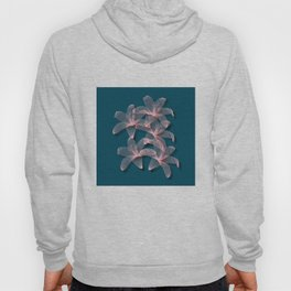 Tiger Lilies in Blue and Pink Hoody