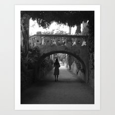 A Path in Ravello, Italy Art Print