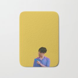Yellow hobi Bath Mat