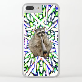 Raccoon Spliff Clear iPhone Case