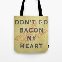 bacon Tote Bags featuring Bacon by Carl Christensen