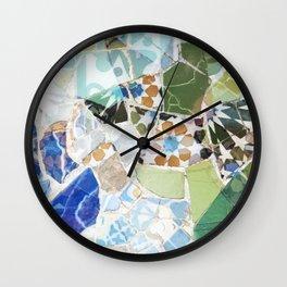 Mosaic of Barcelona VII Wall Clock