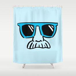 Too Cool (cyan) Shower Curtain