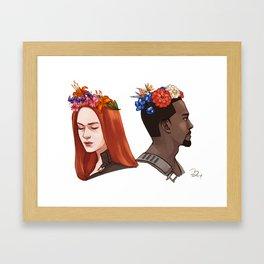 CATWS Sam and Nat Floral Crowns Framed Art Print