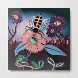 A Bee's Day Metal Print