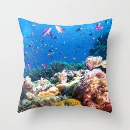 Coral Sea Photo Print Throw Pillow