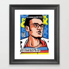 Post-Punk Comix: Moz Framed Art Print