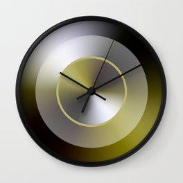 Serene Simple Hub Cap in Sepia Wall Clock