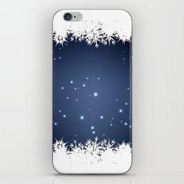Adorable snowy night iPhone Skin