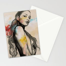 Cleansing Undertones   zentangle nude portrait Stationery Cards