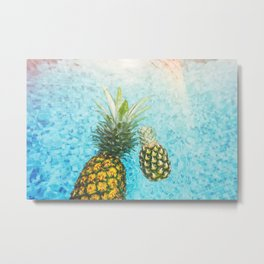 Pineapple twins Metal Print