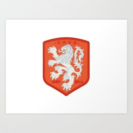Holland 2014 Brasil World Cup Crest Art Print