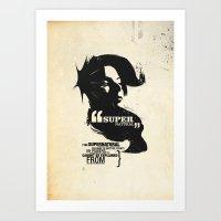 supernatural Art Prints featuring Supernatural by Pete Baker