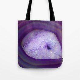Agate Crystal Purple Tote Bag