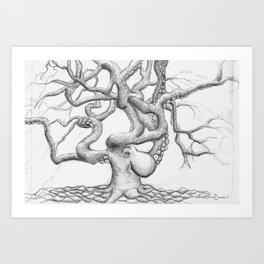 Octopus Tree Art Print