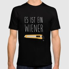 The Wiener Schnitzel Fail MEDIUM Mens Fitted Tee Black