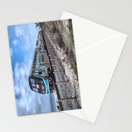 METROLINK TRAIN. SAN CLEMENTE, CALIFORNIA. © 2014 J. Montague. Stationery Cards