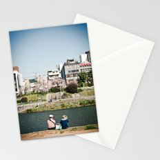By the Kamogawa in Spring, Kyoto Stationery Cards