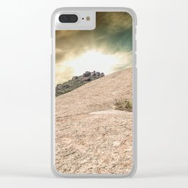 Mountain Big Rock Clear iPhone Case
