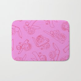Peonies and Switchblades Bath Mat