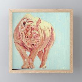 Kay, Pink Rhino Framed Mini Art Print