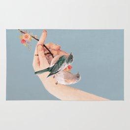 Birds on Hand Rug