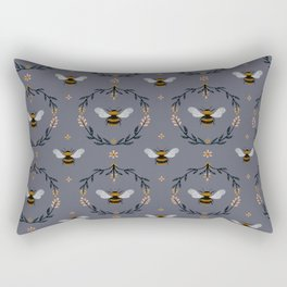 Ode to the Bumblebee (in lavender) Rectangular Pillow