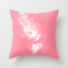 abstract young cat wspw Throw Pillow