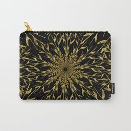 Black Gold Glam Nature Carry-All Pouch