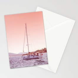BlushPink Nature | Nautical Art Print | Travel Photography | Soft Blush Pastel Colored Sky Stationery Cards