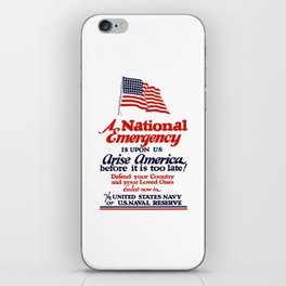 Arise America -- Enlist Now In The United States Navy iPhone Skin