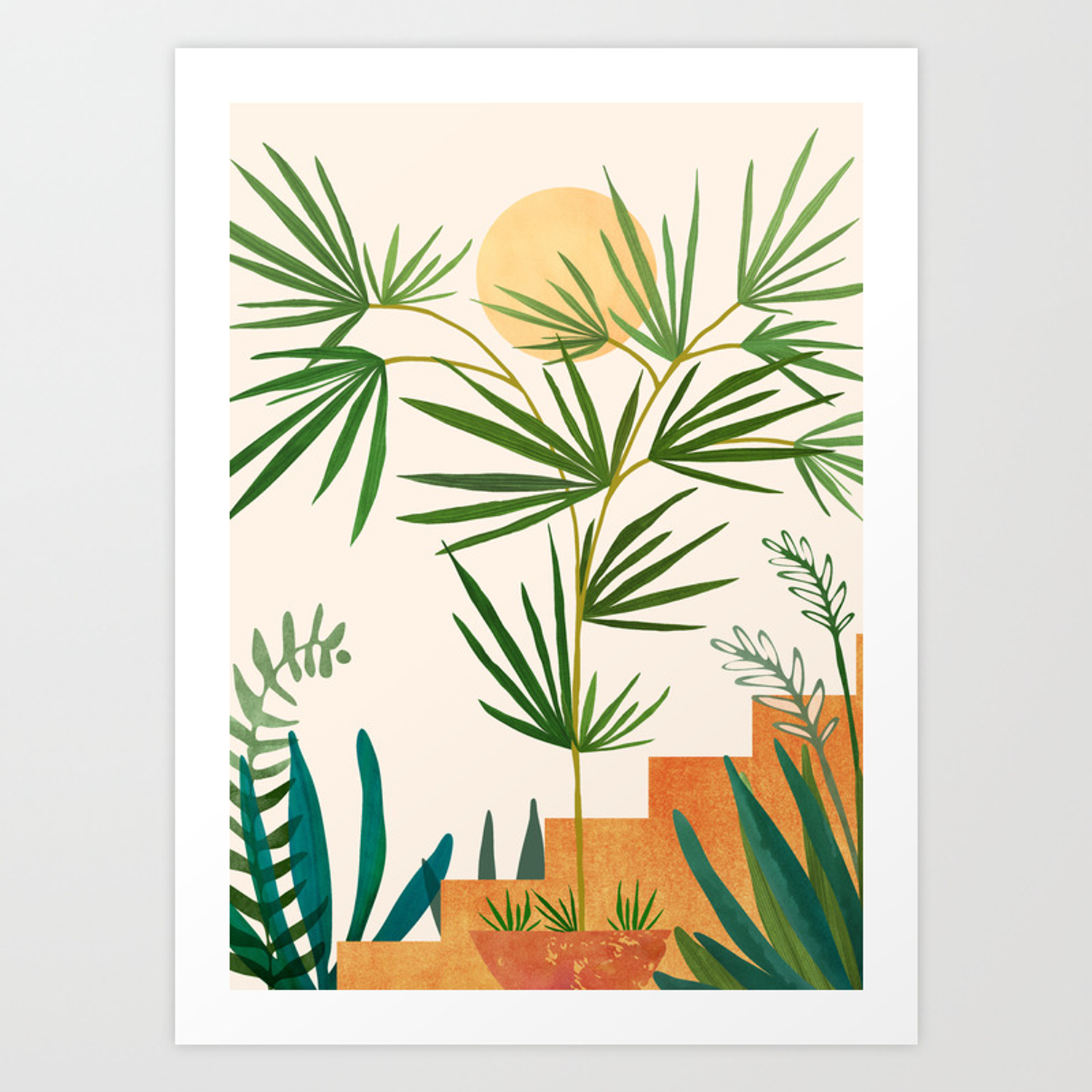The Good Garden Desert Plants Illustration Art Print By