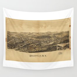 Aerial View of Dolgeville, New York (1890) Wall Tapestry