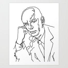 Vladimir Nabokov Art Print
