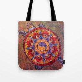 Autumn Turtle - yin yang mandala Tote Bag