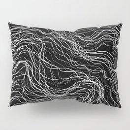 White Veins Pillow Sham