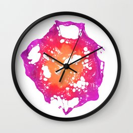 Pink and Orange Latex Flower Wall Clock