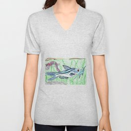 Mexican Blue Catfish Unisex V-Neck
