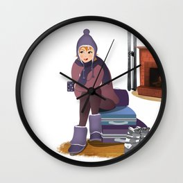 I Love Winter Wall Clock