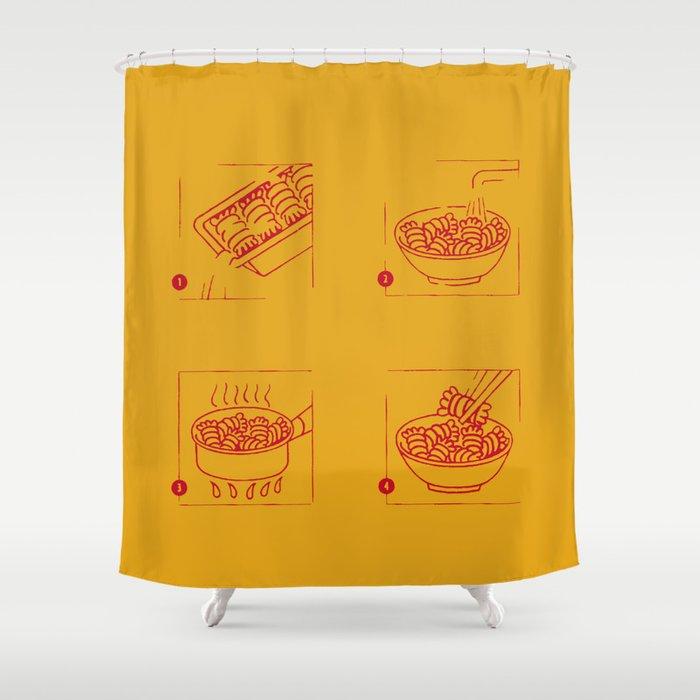 noodles recipe Shower Curtain