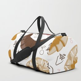 Croissant background Duffle Bag